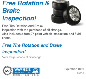 Free Rotation Brake Inspection