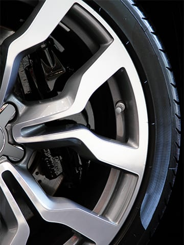 Getting tire shine spray on your brake rotors can damage your brakes over time.