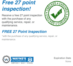 Free 27 Point Inspection